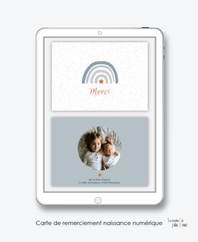 carte de remerciement naissance numérique-remerciements naissance électronique-remerciements numérique-pdf imprimable-pdf numérique-remerciement connecté-arc en ciel-carte de remerciement  à imprimer soi-même- carte de remerciement  à envoyer par mms