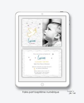 faire-part baptême garçon numérique-faire part baptême digital-faire part numérique-pdf imprimable-pdf numérique-faire part connecté- colombe religieuse -faire part à imprimer soi-même-faire-part à envoyer par sms  mms- faire-part à envoyer par mail