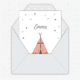 faire-part naissance fille numérique-faire part naissance digital-faire-part digital  -tipi-fleches-à imprimer-à envoyer par mail -à envoyer par mms-sms-réseaux sociaux