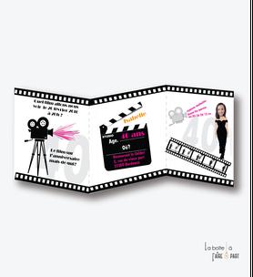 invitation anniversaire femme cinema-film