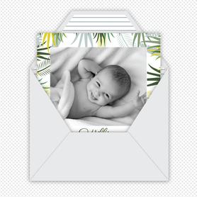 Faire-part naissance garçon gif animé-faire-part naissance virtuel- faire part naissance digital-faire-part naissance numérique animé-à envoyer via les réseaux sociaux-whatsapp-facebook-messenger-mms-faire-part naissance vidéo-feuillage tropical-jungle