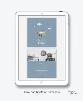 faire-part baptême numérique-faire part baptême digital-faire part numérique-pdf imprimable-pdf numérique-faire part connecté- petit avion -faire part à imprimer soi-même-faire-part à envoyer par sms-mms - à envoyer par mail-réseaux sociaux