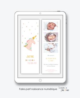 faire-part naissance numérique-faire part naissance électronique-faire part numérique-pdf imprimable-pdf numérique-faire part connecté-licrone origami dorée-faire part à imprimer-faire-part à envoyer par sms ou mms-A envoyer par mail-réseaux sociaux