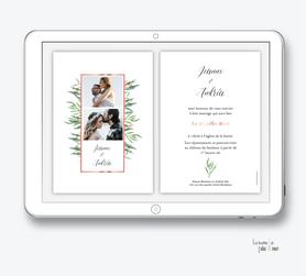 faire-part-mariage-numérique-faire-part-mariage-digital-faire-part-numérique-pdf-numérique-faire-part-mariage-electronique-faire-part-à-envoyer-par-mms-par-mail-réseaux-sociaux-whatsapp-facebook-messenger-bouquet eucalyptus-champêtre-bohème-végetal-photo-