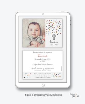 faire-part baptême numérique-faire part baptême digital-faire part numérique-pdf imprimable-pdf numérique-faire part connecté- motifs terrazzo -faire part à imprimer soi-même-faire-part à envoyer par sms-mms - à envoyer par mail-réseaux sociaux