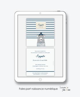 faire-part naissance garçon numérique-faire part naissance digital-faire part numérique-pdf imprimable-pdf numérique-faire part connecté- ourson marin-animal-A imprimer-faire-part à envoyer par sms-faire-part à envoyer par mail-mms-réseaux sociaux