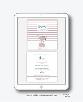 faire-part baptême numérique-électronique-faire part baptême digital-faire part numérique-pdf imprimable-pdf numérique-faire part connecté- renarde marine-faire part à imprimer soi-même-faire-part à envoyer par sms  ou mms- faire-part à envoyer par mail