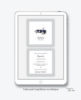 faire-part baptême garçon numérique-faire part baptême digital-faire part numérique-pdf imprimable-pdf numérique-faire part connecté- voiture vintage-faire part à imprimer soi-même-faire-part à envoyer par sms-mms - à envoyer par mail-réseaux sociaux