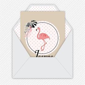 faire part naissance fille numérique-faire part naissance digital -pdf imprimable-pdf numérique-faire part connecté- flamant rose-tropical-kraft-pois-animal-à imprimer -faire part naissance à envoyer par mail-réseaux sociaux