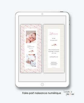 faire-part naissance numérique-faire part électronique-faire part numérique-imprimable-pdf numérique-faire part digital-motifs liberty champêtre-fleurs-faire-part à envoyer par sms-mms-par mail-réseaux sociaux-whatsapp-facebook