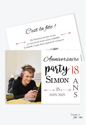 invitation anniversaire homme -carte d'invitation anniversaire homme 20ans-30ans-40ans-50ans-60ans-70ans-anniversaire party-texte