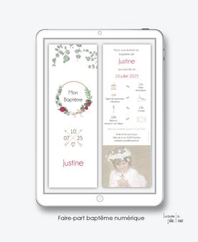 faire-part baptême numérique-faire part baptême électronique-faire part numérique-pdf imprimable-pdf numérique-faire part connecté-bohème chic-couronne-faire part à imprimer soi-même-faire-part à envoyer par sms ou mms-faire-part à envoyer par mail