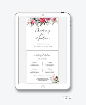 faire-part mariage numérique-faire part mariage digital-faire part numérique-pdf numérique-faire part mariage electronique -faire-part à envoyer par mms-par mail-réseaux sociaux-whatsapp-facebook-messenger-bouquet champêtre-pivoine-eucalyptus-format carré