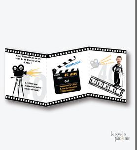 invitation anniversaire homme cinema-film-charlie chapelin