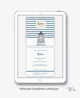 faire-part baptême numérique-faire part baptême électronique-faire part numérique-pdf imprimable-pdf numérique-faire part connecté-ourson marin-bonnet-faire part à imprimer soi-même-faire-part à envoyer par sms ou mms - faire-part à envoyer par mail