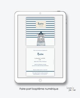 faire-part baptême numérique-faire part baptême digital-faire part numérique-pdf imprimable-pdf numérique-faire part connecté-ourson marin-bonnet-faire part à imprimer soi-même-faire-part à envoyer par sms ou mms - faire-part à envoyer par mail