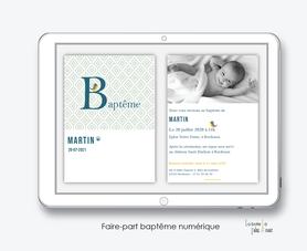 faire-part baptême numérique-faire part baptême digital-faire part numérique-pdf imprimable-pdf numérique-faire part connecté- monogramme petit oiseau-faire part à imprimer soi-même-faire-part à envoyer par sms  ou mms- faire-part à envoyer par mail