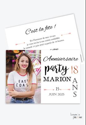 invitation anniversaire femme-carte d'invitation anniversaire femme 20ans-30ans-40ans-50ans-60ans-70ans-anniversaire party