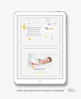 faire part naissance garçon numérique-faire part garçon électronique-fichier Pdf-nuage blanc-à imprimer soi même-envoyer par mail -envoyer par sms