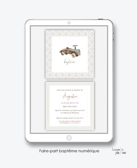 faire-part baptême numérique-faire part baptême électronique-faire part numérique-pdf imprimable-pdf numérique-faire part connecté- voiture vintage-faire part à imprimer soi-même-faire-part à envoyer par sms - faire-part à envoyer par mail-animal-ours