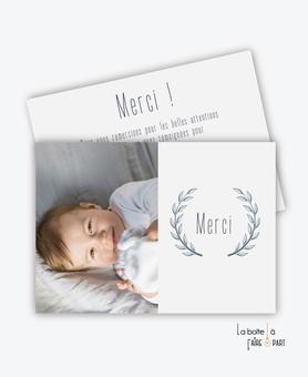 carte de remerciement naissance garçon-avec photo-simple-moderne