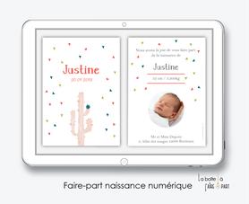 faire-part naissance fille numérique-faire-part naissance fille électronique-fichier pdf - tipi  -à imprimer soi même-à envoyer par mail -à envoyer par sms