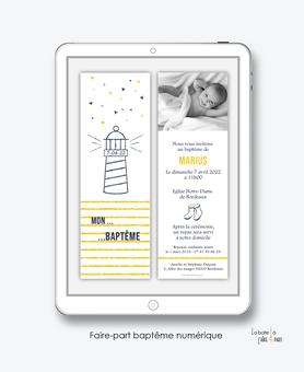 faire-part baptême garçon numérique-faire part baptême digital-faire part numérique-pdf imprimable-pdf numérique-faire part connecté-phare marin-bottes-faire part à imprimer soi-même-faire-part à envoyer par sms ou msm-faire-part à envoyer par mail