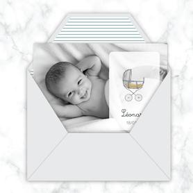 faire-part naissance garçon numérique-faire part électronique-faire part numérique-imprimable-pdf numérique-faire part connecté-LANDAU VINTAGE-terrazzo-faire part à imprimer -faire-part à envoyer par sms-mms-par mail-réseaux sociaux-whatsapp-facebook
