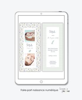 faire-part naissance garçon-numérique-faire part électronique-faire part numérique-pdf numérique-faire part connecté-motifs liberty champêtre-fleurs-faire part à imprime-faire-part à envoyer par sms-mms-par mail-réseaux sociaux-whatsapp-facebook