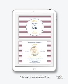 faire-part baptême fille numérique-faire part baptême digital-faire part numérique-pdf imprimable-pdf numérique-faire part connecté-rayures-blé-religieux-faire part à imprimer soi-même-faire-part à envoyer par sms-mms- par mail- par réseaux sociaux