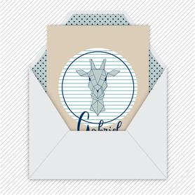 faire-part naissance garçon numérique-faire part électronique-faire part numérique-imprimable-pdf numérique-faire part connecté-Girafe origami-faire part à imprimer soi-même-faire-part à envoyer par sms-mms-par mail-réseaux sociaux-whatsapp-facebook