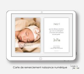 carte de remerciement naissance fille numérique-remerciements naissance électronique-carte de remerciements digital-pdf imprimable--remerciementà envoyer par mail et mms réseaux sociaux-avec photos-carte de remerciement  à imprimer soi-même-
