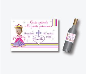 etiquette de vin bapteme fille original