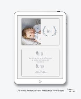 carte de remerciement naissance garçon numérique-remerciements naissance électronique-carte de remerciements digital-pdf imprimable-pdf numérique-remerciement connecté-avec photos-couronne de blé-A envoyer via les réseaux sociaux whatsapp-facebook