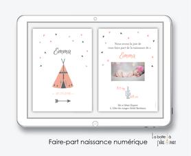 faire-part naissance fille numérique-faire-part naissance fille électronique-fichier pdf -tipi-à imprimer soi même-à envoyer par mail -à envoyer par sms