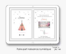 faire-part naissance fille numérique-faire-part naissance fille électronique-fichier pdf -tipi-à imprimer soi même-à envoyer par mail -à envoyer par mms-sms-réseaux sociaux