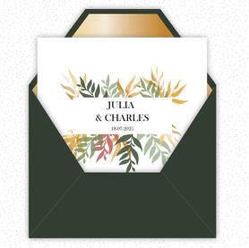faire-part mariage numérique-faire part mariage digital-faire part numérique-pdf numérique-faire part mariage electronique -faire-part à envoyer par mms-par mail-réseaux sociaux-whatsapp-facebook-messenger-Bouquet de feuilles-automne-format carré