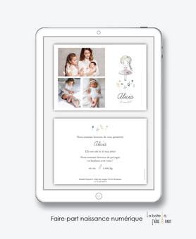 faire-part naissance fille numérique-faire part digital -faire part numérique-imprimable-pdf numérique-faire part connecté-dessin fille-fleurs-multiphoto-faire part à imprimer-faire-part à envoyer par sms-mms-par mail-réseaux sociaux-whatsapp-facebook