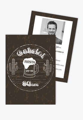 invitation anniversaire homme western beer-western party-cactus-shop de biere