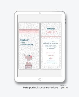 faire-part naissance numérique-faire part naissance électronique-faire part numérique-pdf numérique-faire part connecté-renarde-fleurs-pivoine-faire part à imprimer soi-même-faire-part à envoyer par sms ou mms-faire-part à envoyer par mail-réseaux sociau