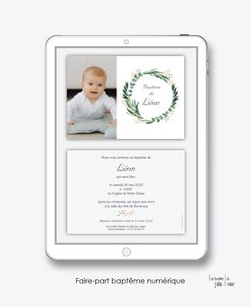 faire-part baptême garçon numérique-faire part baptême électronique-faire part numérique-pdf imprimable-pdf numérique-faire part connecté-couronne eucalyptus-faire part à imprimer soi-même-faire-part à envoyer par sm -mms-à envoyer par mail-réseaux sociau