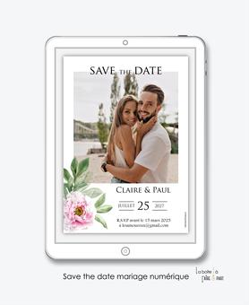 Save the date mariage numérique-Save the date mariage digital-Save the date numérique-pdf numérique-Save the date mariage electronique -Save the date à envoyer par mms-par mail-réseaux sociaux-whatsapp-facebook-messenger-minimaliste-simple-chic-elegant