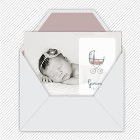 faire-part naissance fille numérique-faire part naissance digital-faire-part digital -Landeau-terrazzo- a imprimer-a envoyer via les réseaux sociaux-mms-whatsapp