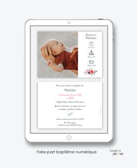 faire-part baptême fille numérique-faire part baptême électronique-faire part numérique-pdf imprimable-pdf numérique-faire part connecté-pivoine-fleurs-religieux-pictogramme-faire-part à envoyer par sms-mms- par mail- par réseaux sociaux