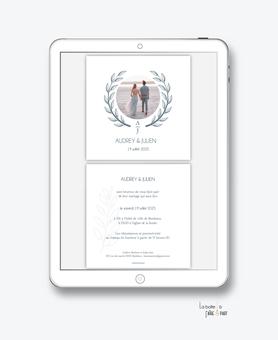 faire-part-mariage-numérique-faire-part-mariage-digital-faire-part-numérique-numérique-faire-part-mariage-electronique-faire-part-à-envoyer-par-mms-par-mail-réseaux-sociaux-whatsapp-facebook-messenger-couronne epi de blé-bohême-chic-minimaliste
