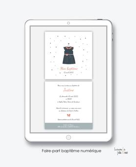 faire-part baptême fille numérique-faire part baptême digital-faire part numérique-pdf imprimable-pdf numérique-faire part connecté-robe-noeud-pois-église-faire part à imprimer soi-même-faire-part à envoyer sms mms-à envoyer par mail-réseaux sociaux