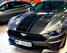 Zierstreifen Motorhaube Ford Mustang Folierungen Carwrap Scheibentönungen Wrap Expert