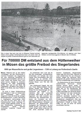 Zeitungsartikel aus dem Jahre 1968
