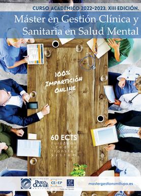 Master de Gestión Clínica y Sanitaria en Salud Mental. Curso 2020-21.