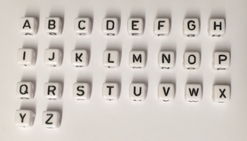10x10 mm Kunststoff Buchstabenwürfel